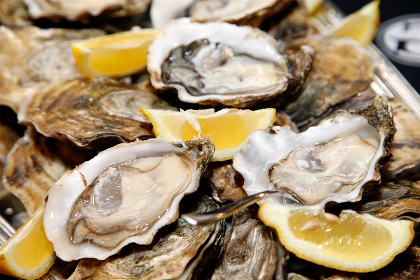 a platter of delicious Virginia Oysters on the half shell
