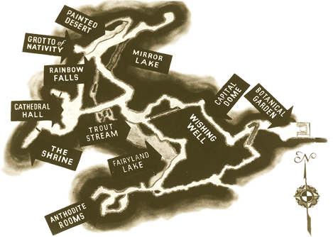 Map of Skyline Caverns in Front Royal VA