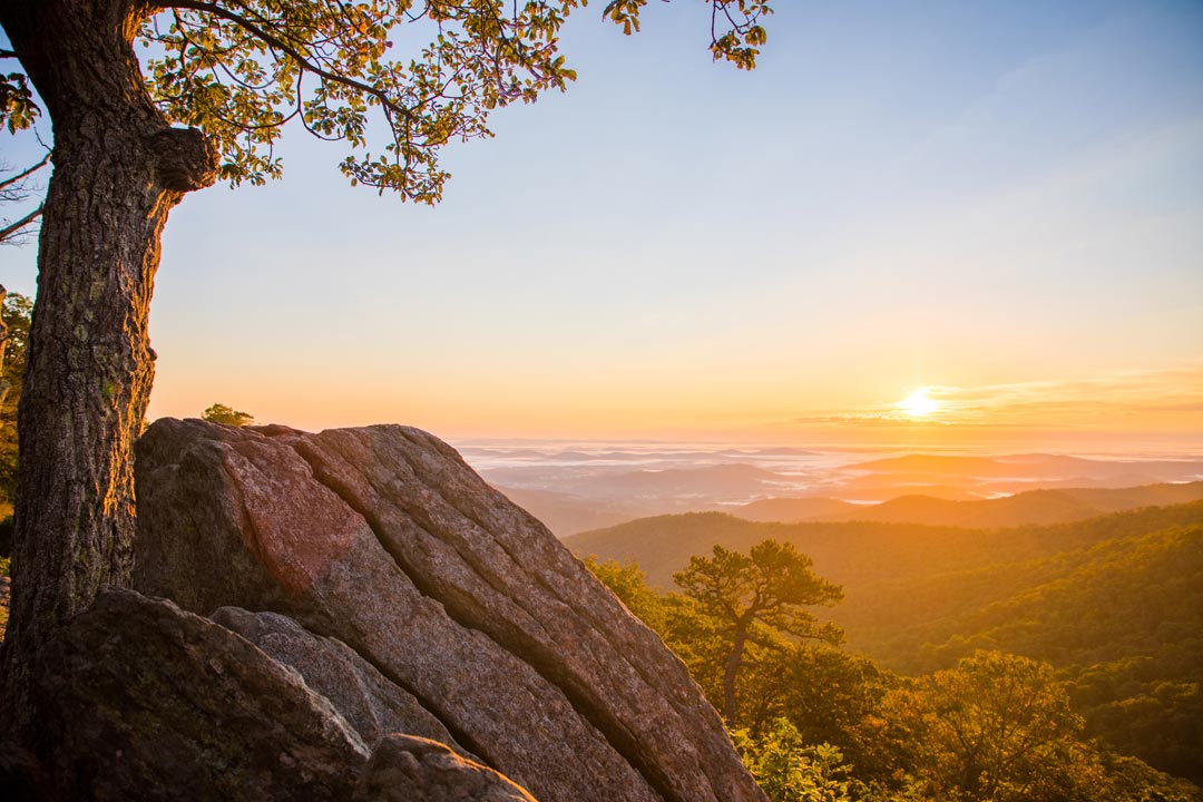 Sunrise over the Shenandoah Valley