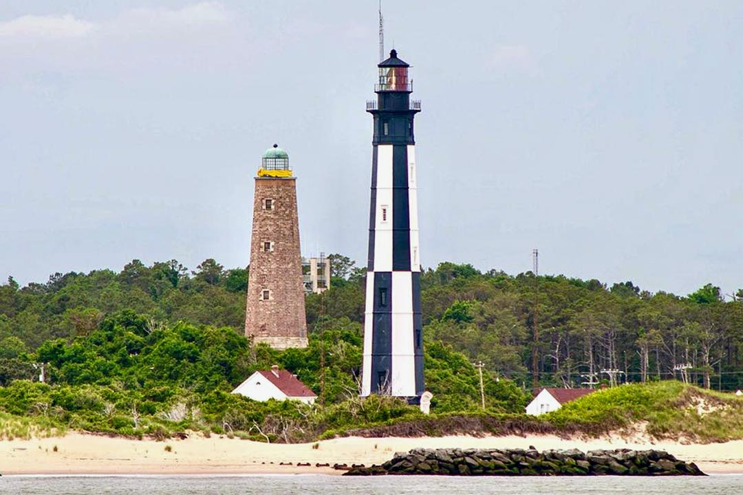 Both Cape Henry Lighthouses