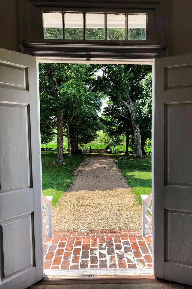 front door at Smithfield Plantation